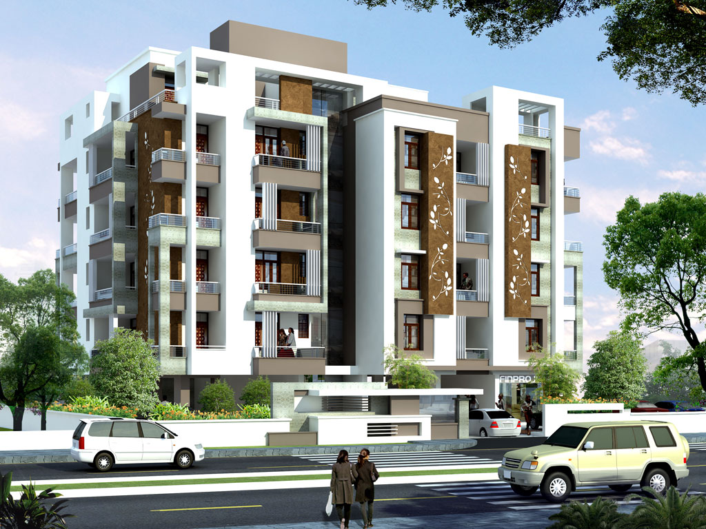 Apartment Front Elevation : Sob project by shree ram group